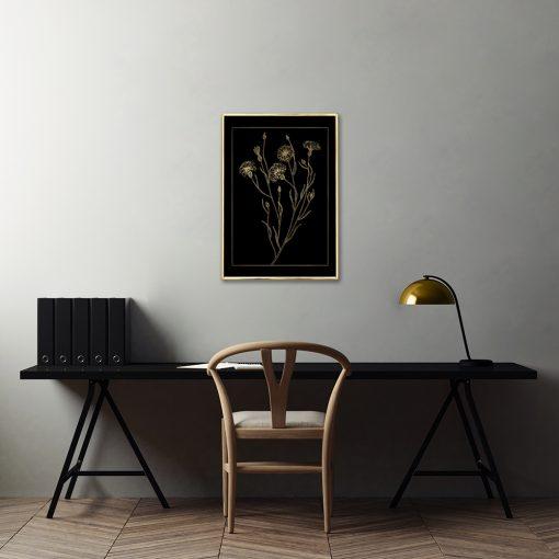 plakaty metaliczne z roślinami
