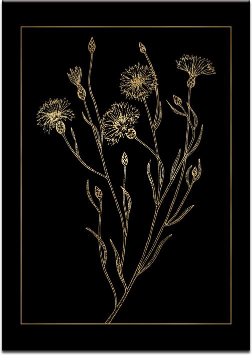 roślinny motyw na plakacie