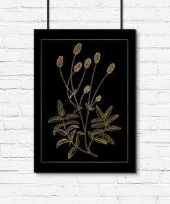plakat z motywem kwiatów