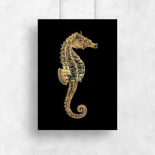 złoty konik morski jako plakat