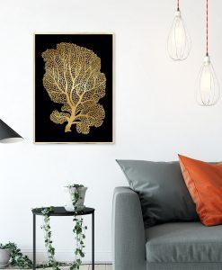 plakat metaliczny z motywem drzewa