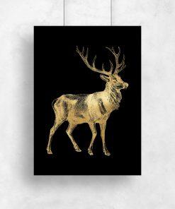 złoty plakat ze zwierzęciem