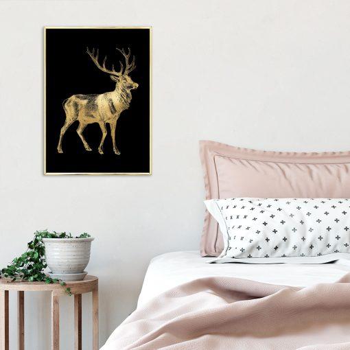 plakat złoto-czarny do sypialni
