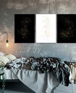 Plakat tryptyk czarno-biały do sypialni