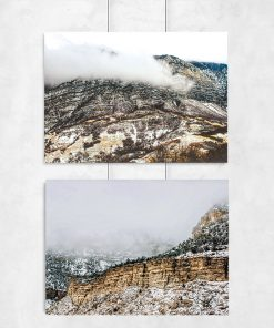 Plakat dyptyk z górami