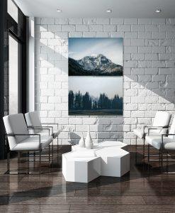 Plakat podwójny z motywem gór do salonu