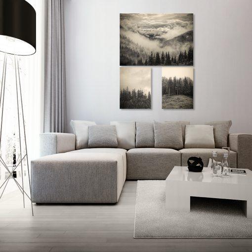 Zestaw plakatów z krajobrazem do salonu