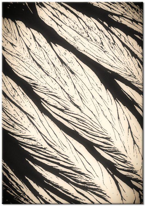 Plakat w kolorze czarno-beżowym