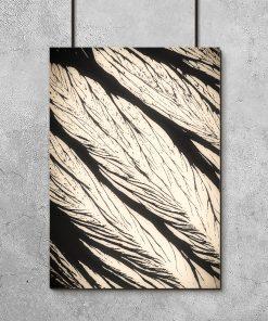 Abstrakcyjny plakat czarno-beżowy