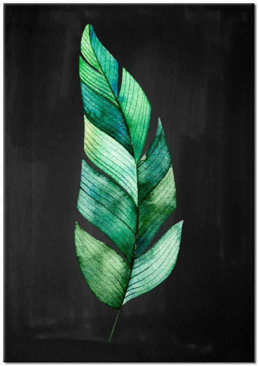 Plakat ze wzorem liścia