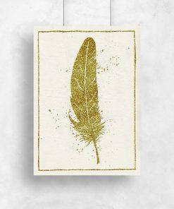 Plakat z imitacją brokatu