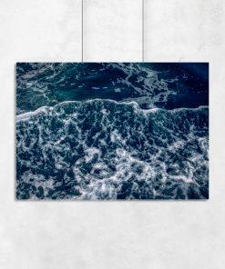 Plakat z pianą morską