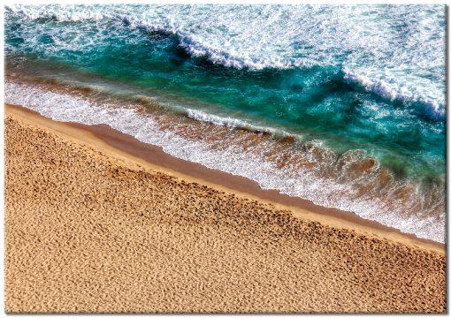 Plakat z plażą i morzem