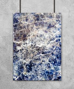 Niebieski plakat z abstrakcją
