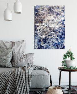 Plakat niebieski do salonu