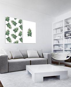 Plakat podwójny ze wzorem liści