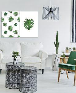 Tropikalny dyptyk do dekoracji salonu