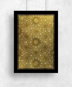 Plakat z mozaiką w kształcie gwiazd
