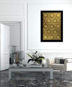 Żółty plakat do salonu