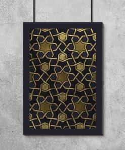 Plakat z motywem mozaiki do salonu