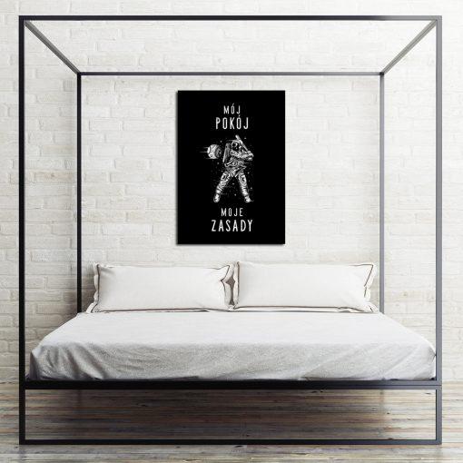 Plakat typograficzny do pokoju nastolatka