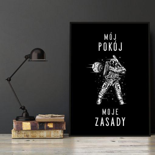 Plakat z napisem do pokoju nastolatka