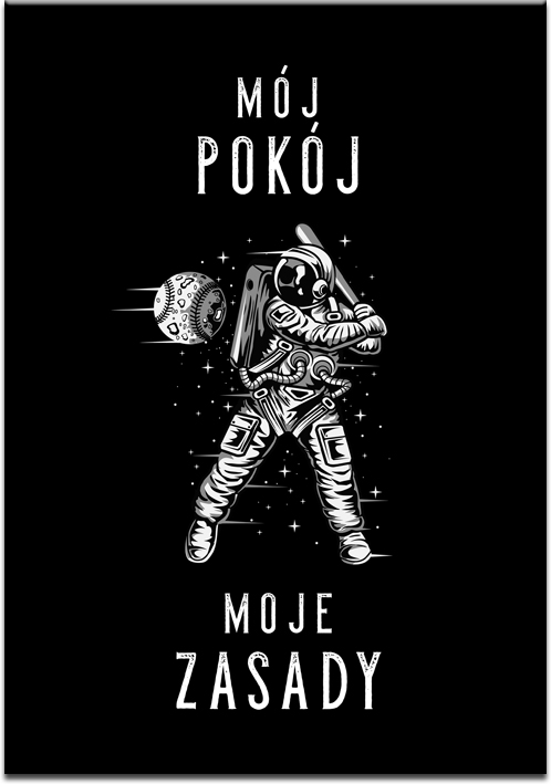 Plakat z motywem astronauty