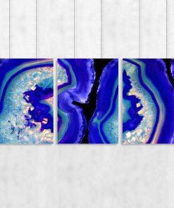 Kobaltowy plakat do salonu