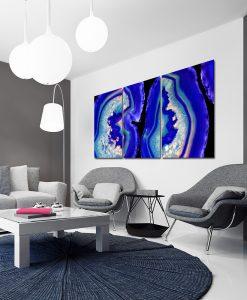 Niebieski plakat do salonu
