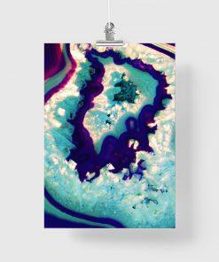 Plakat z turkusową abstrakcją