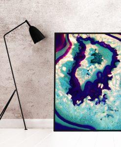 Plakat z abstrakcją do salonu