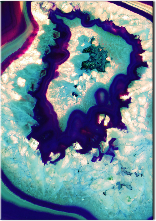 Plakat z motywem abstrakcji minerałowej