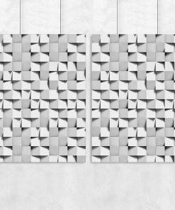 Zestaw plakatów ze wzorem abstrakcyjnym