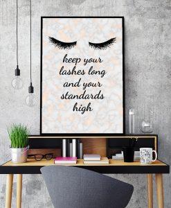 Marmurowy plakat dla kosmetyczek