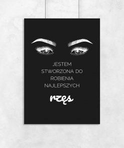 Plakat typograficzny dla kosmetyczek