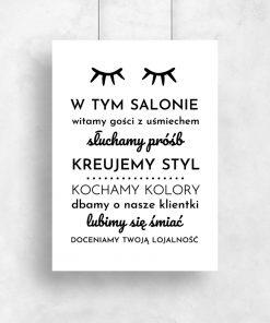 Plakat dla kosmetyczek