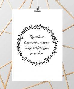 Typograficzny plakat dla kosmetyczek