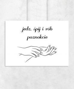 Plakat o tematyce paznokci