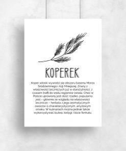 Typograficzny plakat do kuchni