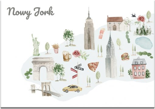 Plakat z motywem Nowego Jorku