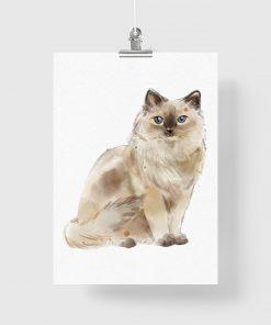 Plakat z portretem kota