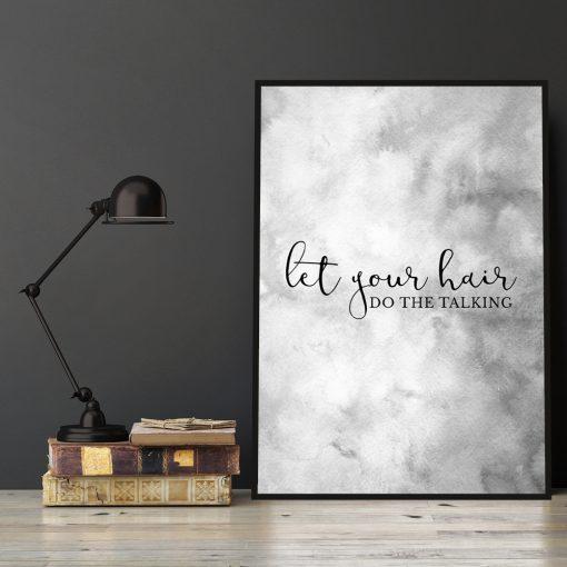 Plakat do salonu fryzur