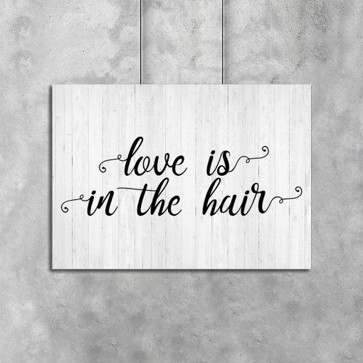 Plakat z motywem fryzjerskim