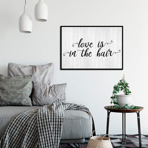 Plakat na ścianę do salonu fryzjerskiego