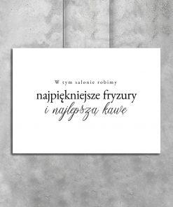 Poziomy plakat z napisem