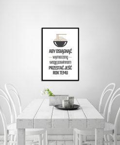 Plakat z napisami do kuchni