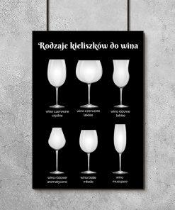 Plakat czarno-biały do ozdoby kuchni