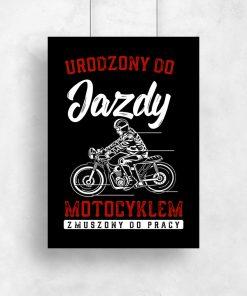 Plakat typograficzny z motocyklem