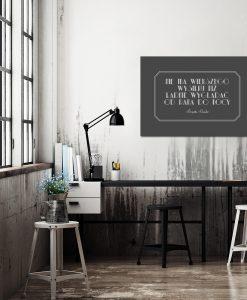 Szary plakat do biura