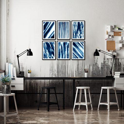 abstrakcyjny zestaw plakatów na ścianę do pokoju